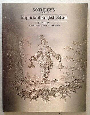 SOTHEBY'S important English Silver 1986 London Catalog