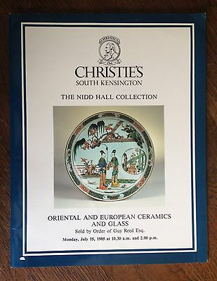 Christie's Oriental and European Ceramics and Glass Nidd Hall 1985 Catalog