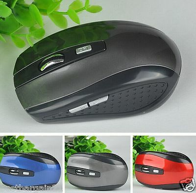 GREY 2.4GHz Wireless Cordless Optical Scroll Mouse USB Dongle Computer Laptop