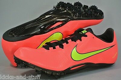 New Nike Zoom Ja Fly Track & Field Shoes Spikes Size 12  Pink Black Yellow