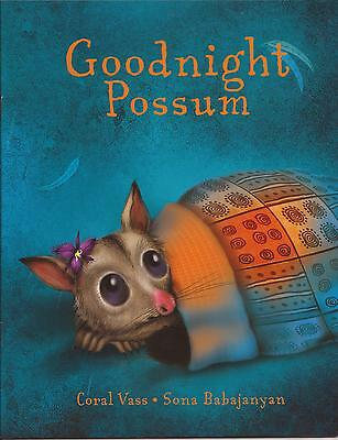 GOODNIGHT POSSUM Childrens Picture Story Book by Coral Vass 2014 Good Night NEW