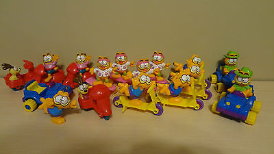 Vintage Lot of Garfield/Odie Happy Meal Toys from McDonalds! 1988 PVC Plastic