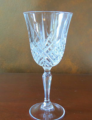 """Cristal D'Arques Durand Masquerade Crystal 7 ½"""" Water Goblet(s)"""