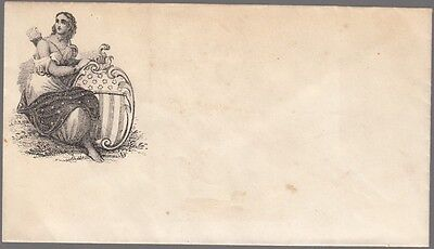 [60350] Civil War Postal Cover Woman With Shield