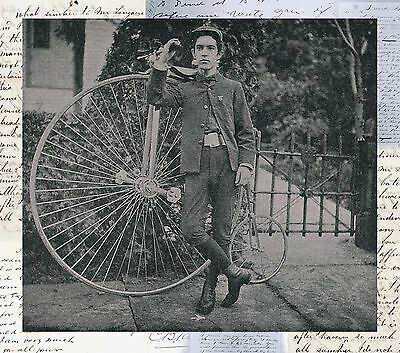 "Big Wheel Bicycle, BIKE, Vintage antique home decor, 20""x20"" Canvas Art"