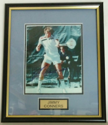 Jimmy Conners Frame Personally Signed Photograph 42 x 34cm
