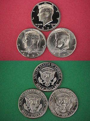 1973 P D S Kennedy Proof & BU Half Dollars From Mint Sets Flat Rate Shipping
