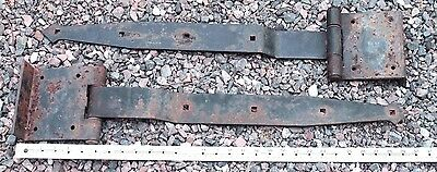 "Large 30""strap Hinges Iron Antique Barn Door Gate Farm Vintage Medieval Steel"