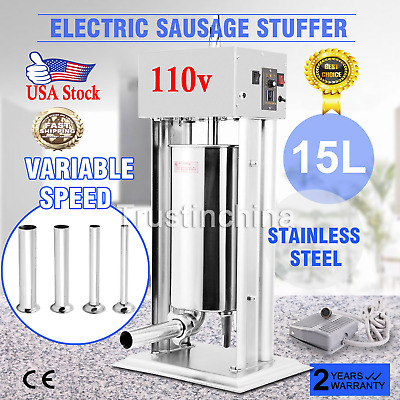 15l 33lbs Electric Sausage Filler Stuffer Food Vertical Stuffing Strong Packing