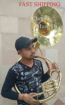 "!!Sale Sousaphone Indian Shinning Brass 16"" Bb ""Chopra"" 3 Valve with Bag + M/ P"