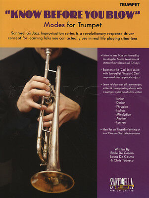 Know Before You Blow Modes for Trumpet Sheet Music Book with CD
