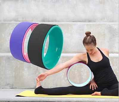 Yoga Wheel Basic Fitness Extra Strength Prop Comfort Safety Backbend Poses