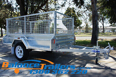 7x4 HOTDIP GALVANISED FULLY WELDED TIPPER BOX TRAILER WITH 600mm REMOVEABLE CAGE