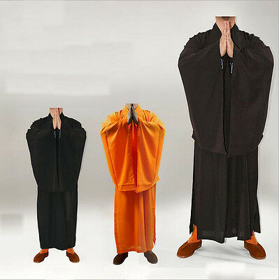 7427 Unisex Shaolin Buddhist Monk Haiqing Robe Zen Meditation Gown Kung Fu Suits