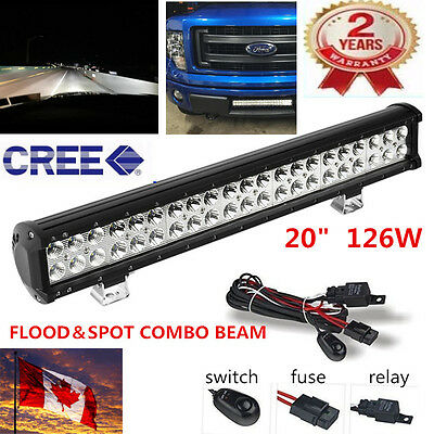 """20""""INCH 126W CREE Led work Light Bar Work Driving SPOT & FLOOD Truck Offroad 4WD"""