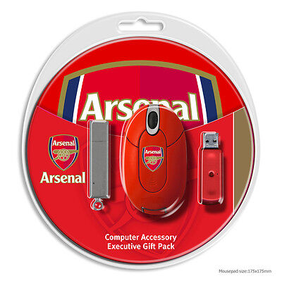 Official Arsenal Executive Computer Gift Set/ Mouse, Mat, Flashdrive Srp £24.99