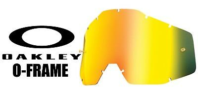 Goggle Shop Tear Off Lens To Fit Oakley O Frame Mx  Goggle - Mirror  Gold