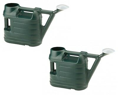 2 x 6.5 Litre Ward Green Watering Can Garden Watering Can With Rose