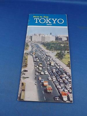 Travel Brochure Booklet How To See Tokyo Japan Fold Out Map Air Steamship Lines