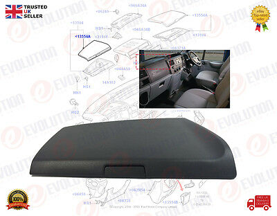 Ford Transit Mk7 Dash Top Stowage Compartment Lid / Top Cover 1456542 Lh / Left