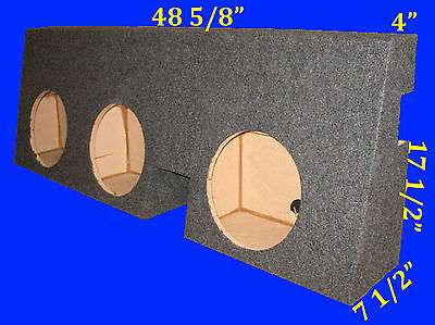 "Toyota Tacoma Double Cab 2005-Up 10"" 3 Hole Grey Subwoofer Sub Enclosure Box"