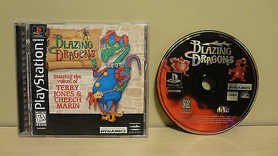 PS1 Video Game Blazing Dragons Complete! Sony Playstation One!