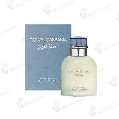 D&g Dolce & Gabbana Light Blue Pour Homme Edt 125 75 40 Ml Uomo Spray