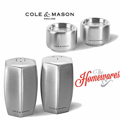 Cole and Mason Stainless Steel Burley Shaker Salt & Pepper Set