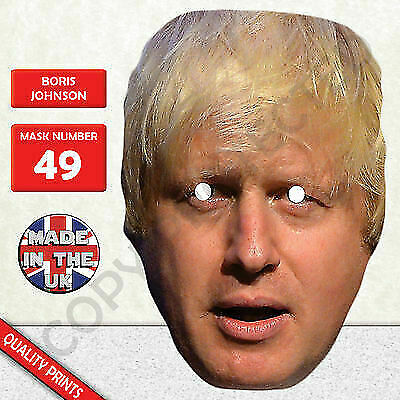 Boris Johnson Politician Celebrity Card Mask - Fun For Stag&Hen Parties New