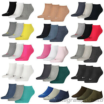 Puma Sports Socks Invisible Sneakers Mens/Womens (3 Pair Sport Pack) UK 2 - 14