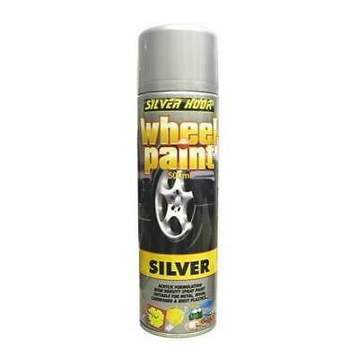 Silverhook ACRYLIC SILVER WHEEL PAINT HIGH DENSITY CAN 500ml FOR ALLOYS/HUBCAPS