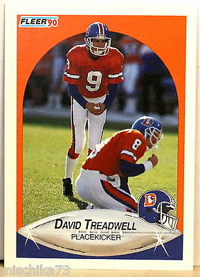 Fleer Football 1990 NFL Karte - Nr. 32 David Treadwell