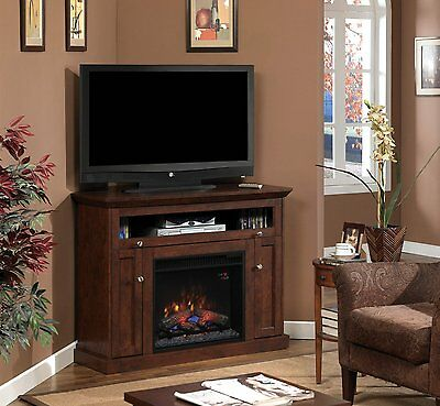 """ClassicFlame 23DE9047-PC81 Windsor TV Stand for TVs up to 45"""", Antique Cherry"""