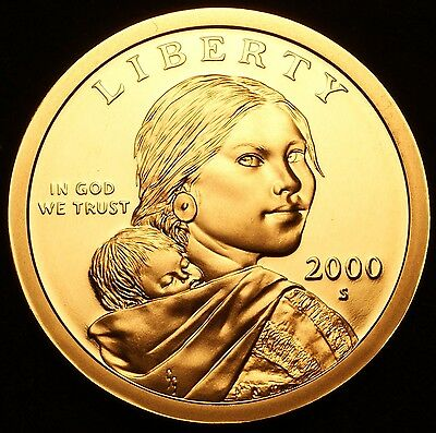 2000 S Native American Sacagawea Dollar Gem Deep Cameo PROOF US Mint Coin