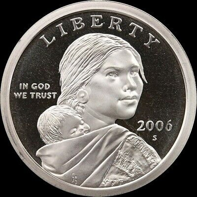 2006 S Native American Sacagawea Dollar Gem Deep Cameo PROOF US Mint Coin