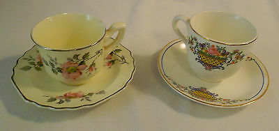 Two  Demitassee  Cups  And  Saucers -  Lido  And  Derwood