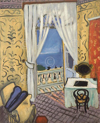 Interior with a Violin Case Henri Matisse Figurative Music Print Poster 11x14