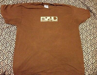 BRAD WELCOME TO DISCOVERY PARK SHIRT Brown Size Large Great Condition Pearl Jam