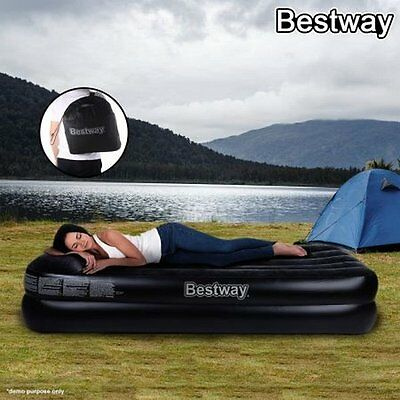 NEW Sturdy Single Size Bestway Comfort Quest Deluxe Inflatable Mattress/Air Bed