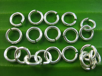 100% REAL925 sterling silver round open JUMP RING 6mm x 1.1mm - DIY jewellery
