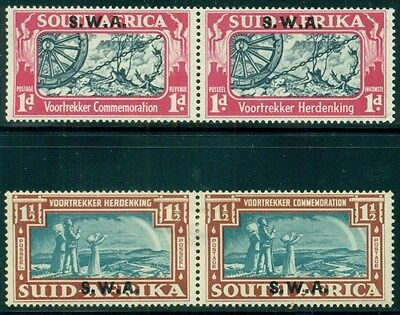 SOUTH WEST AFRICA Sc133-34 SG109-10 MH 1938 Voortrekker Issue set of 2 SCV$35