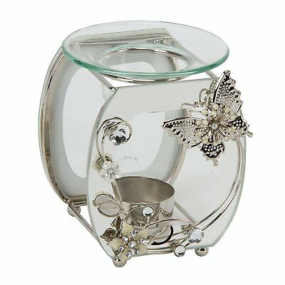 Hestia Mirror Butterfly Design Oil and Wax Tart Burner