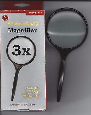 New 3x 3-Inch Handheld Magnifier MH2117-3