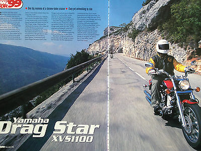 Yamaha Xvs1100 Drag Star # First Ride Report # Motorcycle Article # 3 Pages