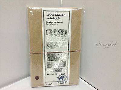 MIDORI NEW Traveler's NOTEBOOK 13715006 Brown Leather Cover From Japan New