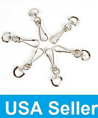 New Metal Swivel Snap Hooks For Paracord Lanyards  50, 100, 500 U PICK QUANTITY