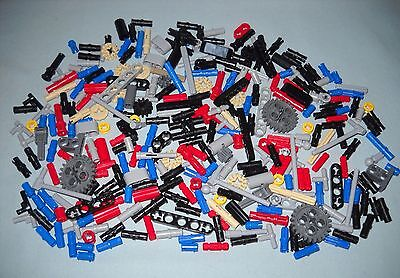 300 New Lego Small Technic Pieces, Great Variety Of Connectors, Bushings, Etc
