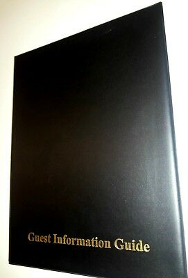 Guest Information Guide Pvc Folder 7 A4 Double Pockets Ref Black/Gold