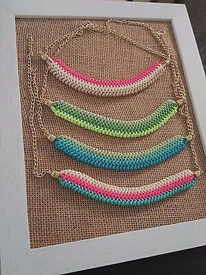 Beautifull Handmade Flat Necklaces