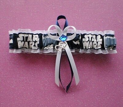 Star Wars Fabric Jewel Wedding Bridal Prom Toss Garter Double Heart Charm